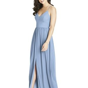 Blue Dessy Bridesmaid Dress